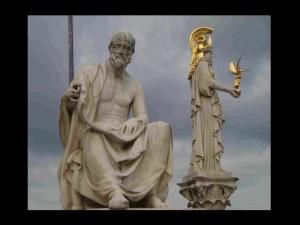 Polybius und Pallas Athene