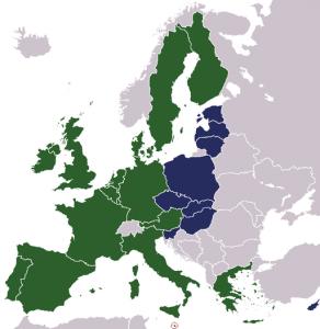 Osterweiterung 2004 (blaue Staaten)