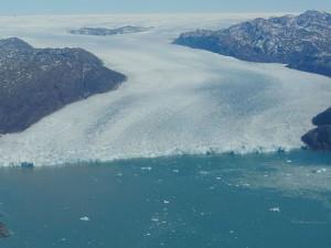 Kalbender Grönland-Gletscher