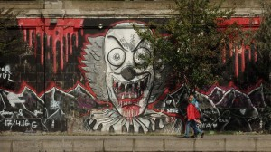 Donaukanal_Graffiti;_-Horror_Clown-