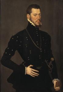 Antonis Mor van Dashorst. Hans skola: Porträtt av spansk ädling.NM 3233
