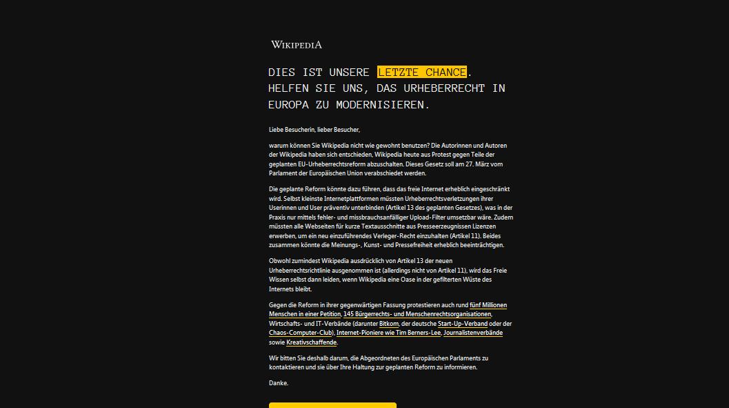Terror Neuseeland Wikipedia: Wiki-Protest Gg. Internet-Zensur