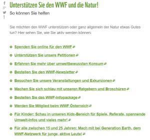 WWF - Liste des Mitmachens